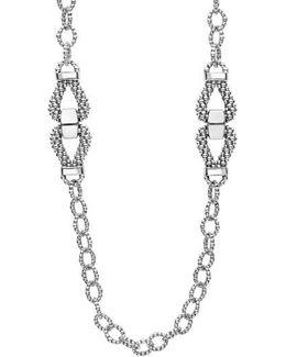 Derby Caviar Link Necklace