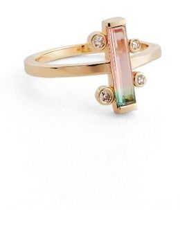 Watermelon Tourmaline & Diamond Ring (nordstrom Exclusive)
