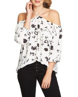 Off The Shoulder Chiffon Blouse