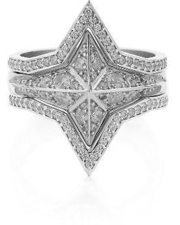 Set Of 3 Diamond Pave Star Rings (nordstrom Exclusive)