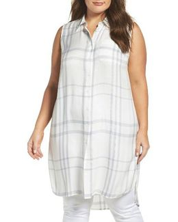 Tranquil Plaid Tunic Shirt