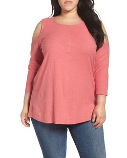 Lightweight Cold Shoulder Top