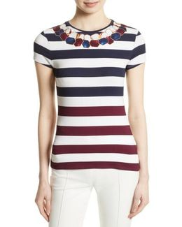 Danilyn Rowing Placement Print Tee