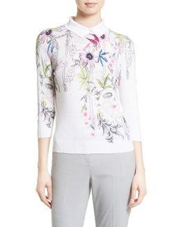 Kikka Passion Flower Print Sweater