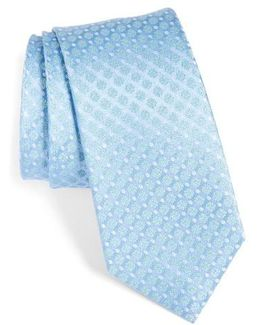 Forget Me Not Floral Silk Tie