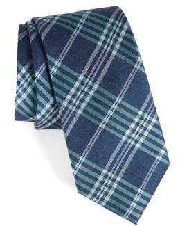 School Plaid Silk & Cotton Tie