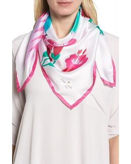 Hummingbird Silk Square Scarf