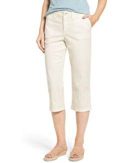 Stretch Cotton Crop Pants