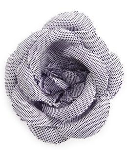 Chambray Lapel Flower