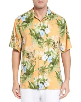 Corfu Jungle Floral-print Short-sleeve Woven Shirt