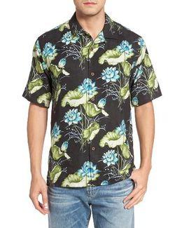 Adriatic Garden Silk Blend Camp Shirt