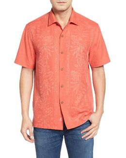 Pacific Floral Silk Camp Shirt