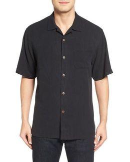 Islander Fronds Silk Camp Shirt