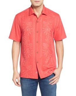 Pacific Standard Fit Floral Silk Camp Shirt