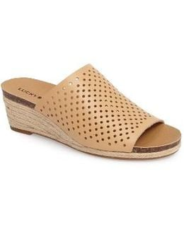 Jemya Perforated Open Toe Mule