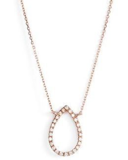 Marquise Diamond Pendant Necklace