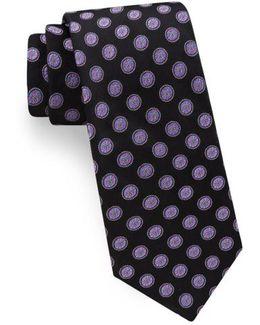 Lifesaver Medallion Silk Tie