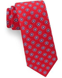 Lifesaver Medallion Silk Tie