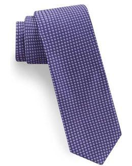 Square Microdot Silk Tie