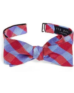 Derby Check Silk Bow Tie