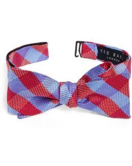 Derby Check Silk Bow Tie