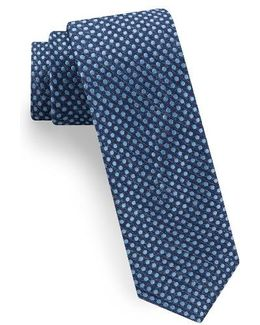Tussah Party Dot Silk Tie