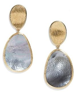 Lunaria Mother Of Pearl Drop Earrings