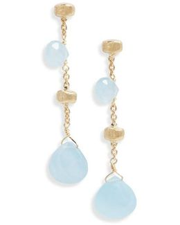 Paradise Semiprecious Stone Linear Drop Earrings