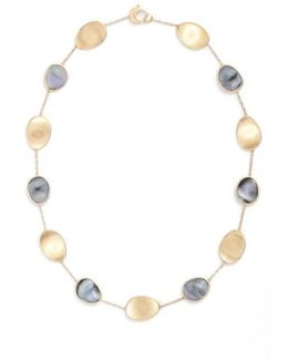 Lunaria Mother Of Pearl Collar Necklace