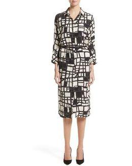 Aligi Print Silk Dress