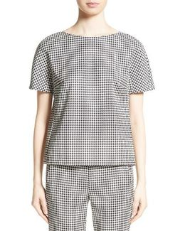 Ares Wool Blend Houndstooth Top