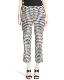 Astrale Houndstooth Wool Blend Pants