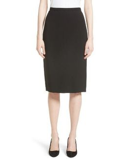 Bugia Stretch Wool Skirt
