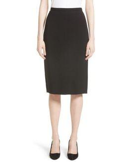Bugia Stretch Wool Skirt