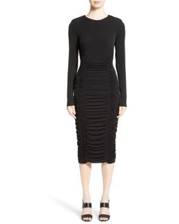 Ruched Stretch Jersey Dress