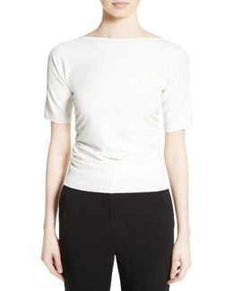 Joice Ruched Knit Top