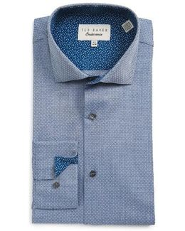 Rafi Trim Fit Geometric Dress Shirt