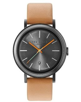 Connor Leather Strap Watch
