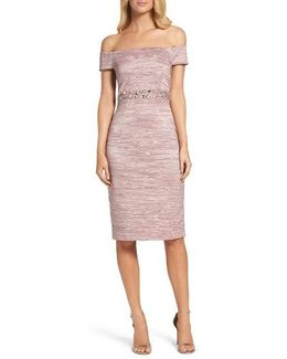 Off The Shoulder Taffeta Dress