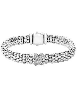 Diamond Lux Single Station X Bracelet