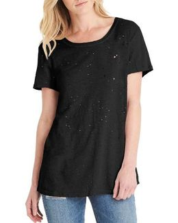 Distressed Hemp & Cotton Tee