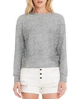 Stripe Crop Sweatshirt
