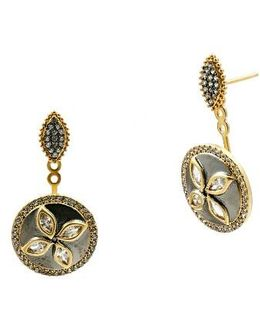 Fleur Bloom Drop Back Earrings