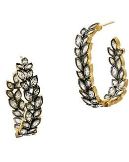 Fleur Bloom Hoop Earrings