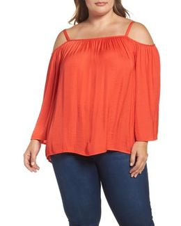 Rumple Cold Shoulder Blouse