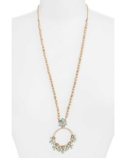 Bright Paradise Long Pendant Necklace