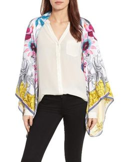 Passion Flower Silk Cape
