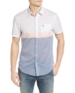 Heritage Slim Fit Colorblock Lawn Sport Shirt