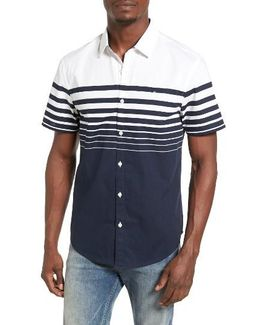 Striped Stretch Woven Shirt