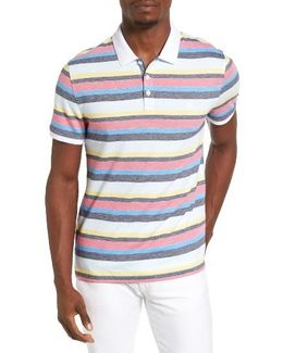 Birdseye Striped Polo